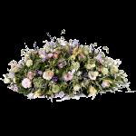 Rouwwerk ovaal bloemstuk